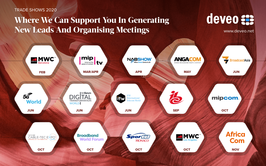 Which events can Deveo provide support to you?